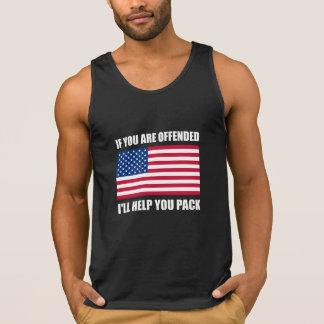Paquet offensé d'aide de drapeau des Etats-Unis