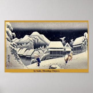 par Ando, Hiroshige Ukiyo-e. Posters