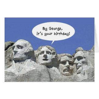 Par George c'est votre anniversaire, carte de Mt