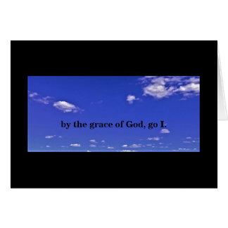 PAR LA GRÂCE DE GOD/GO DANS LA PAIX CARTE DE VŒUX