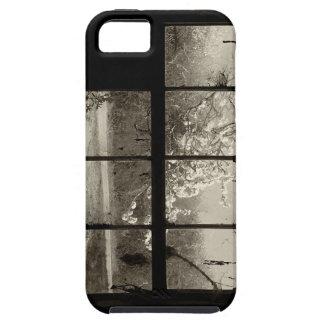 Par la vieille fenêtre de grange étui iPhone 5