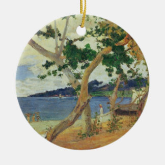 Par le bord de la mer, la Martinique, 1887 (huile Ornement Rond En Céramique