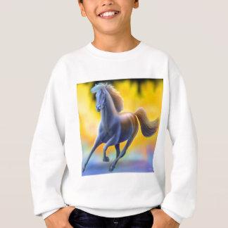 Par le feu le cheval badine le sweatshirt