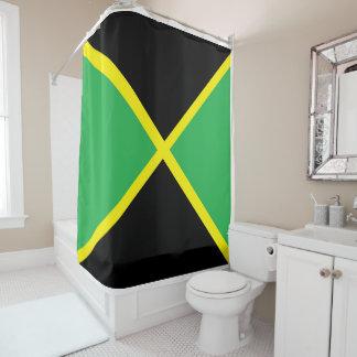 par le rideau en douche jamaïcain de drapeau