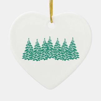 Par les bois ornement cœur en céramique