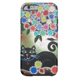 Par Lori Everett_Day du chat mort et noir, arbre Coque iPhone 6 Tough