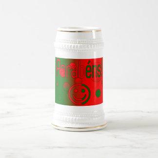 Parabéns Le drapeau du Portugal colore l art de Tasse À Café