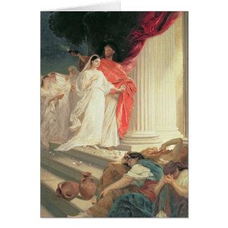 Parabole des vierges sages et insensées, 1886 carte de vœux