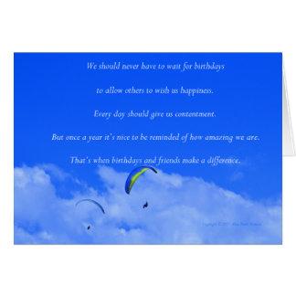 """""""Parachute ascensionnel #13"""" avec le poème : Amis Carte De Vœux"""