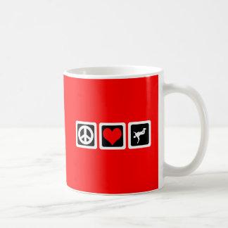 Parachutisme d'amour de paix mug