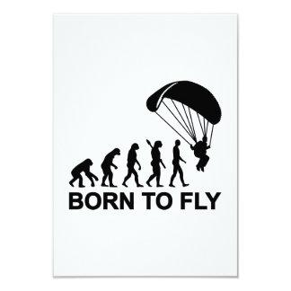 Parachutisme d'évolution soutenu pour voler carton d'invitation 8,89 cm x 12,70 cm
