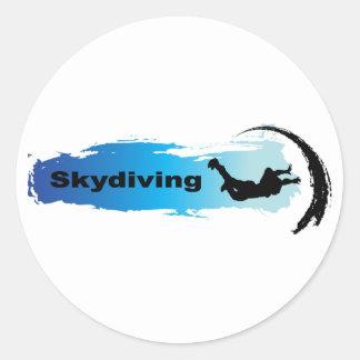 Parachutisme unique sticker rond