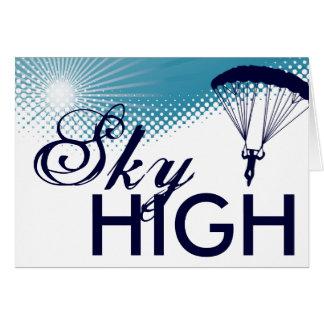 parachutiste extrèmement haut carte de vœux