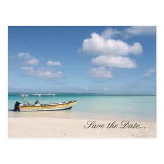 Paradis abandonné - sauvez la carte postale de