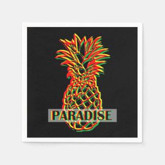 Paradis d'ananas serviette jetable