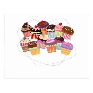 Paradis de petits gâteaux carte postale