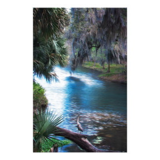 Paradis de rivière de paume de la Floride Papeterie