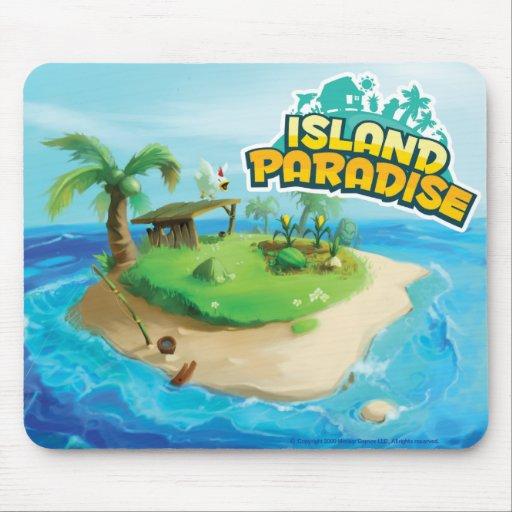 Paradis Mousepad d'île Tapis De Souris