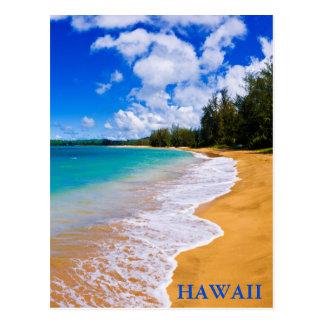 Paradis tropical de plage, Hawaï Carte Postale