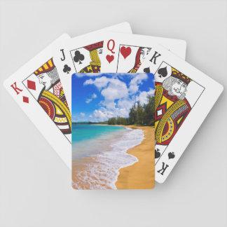 Paradis tropical de plage, Hawaï Cartes À Jouer