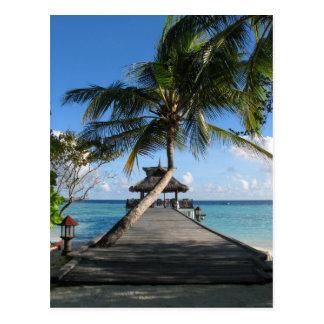 Paradis tropical - meilleur d'aujourd'hui le 12 carte postale