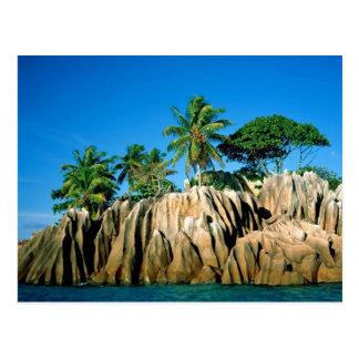 Paradis trouvé, Seychelle Carte Postale
