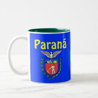 Paraná, tasse de café d'état du Brésil Caneca font