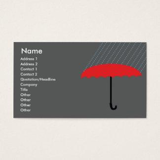 Parapluie - affaires cartes de visite