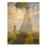 Parapluie de //de promenade de La de Claude Monet Cartes Postales