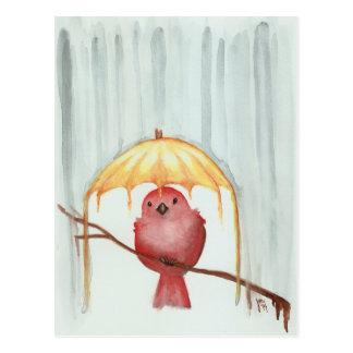 Parapluie jaune cartes postales