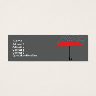 Parapluie - maigre mini carte de visite