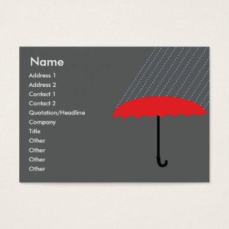 Parapluie - potelé cartes de visite