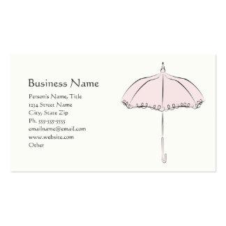 Parasol rose cartes de visite personnelles