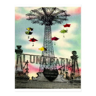 Parc d'attractions de Coney Island Luna Park Carte Postale