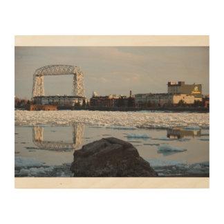 Parc de canal de pont d'ascenseur de Duluth Impression Sur Bois