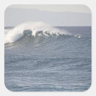 Parc de plage de Hookipa, rivage du nord de Maui, Sticker Carré