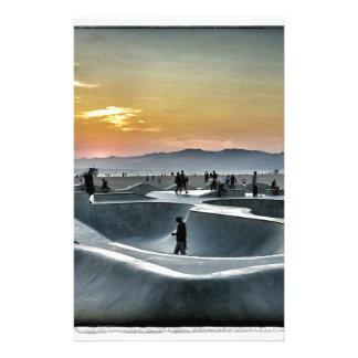 Parc de planche à roulettes de plage de Venise Papier À Lettre Customisable