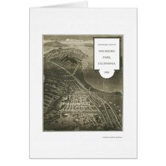 Parc de San Mateo, carte panoramique de CA - 1905