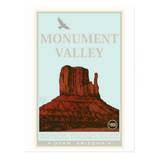 Parc de tribal de Navajo de vallée de monument Cartes Postales