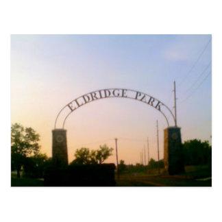 Parc d'Eldridge à Elmira, NY à la carte postale de