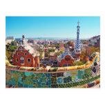 Parc Guell, Barcelone - Espagne Carte Postale