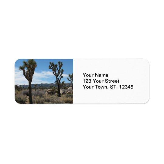 Parc national d'arbre de Joshua Étiquettes D'adresse Retour
