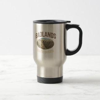 Parc national de bad-lands mug de voyage
