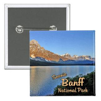 Parc national de Banff Badge Carré 5 Cm
