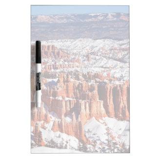 Parc national de canyon de Bryce Tableaux Effaçables Blancs