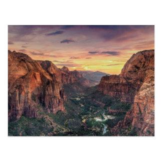 Parc national de canyon de Zion Carte Postale