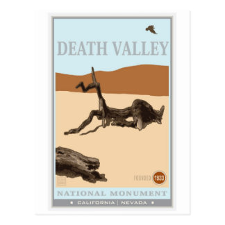 Parc national de Death Valley 4 Cartes Postales