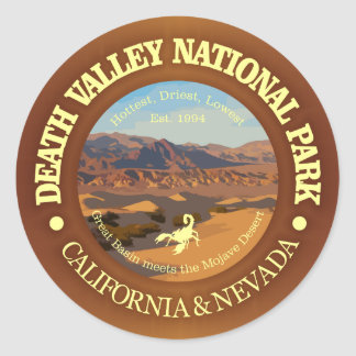 Parc national de Death Valley Sticker Rond