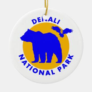 Parc national de Denali Ornement Rond En Céramique
