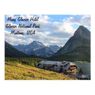 Parc national de glacier beaucoup hôtel de glacier cartes postales
